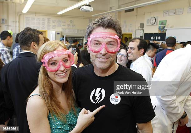 Actress Andrea Bowen and Actor and The Creative Coalition CoPresident Tim Daly promotes handson learning during National Lab Day at East Side...