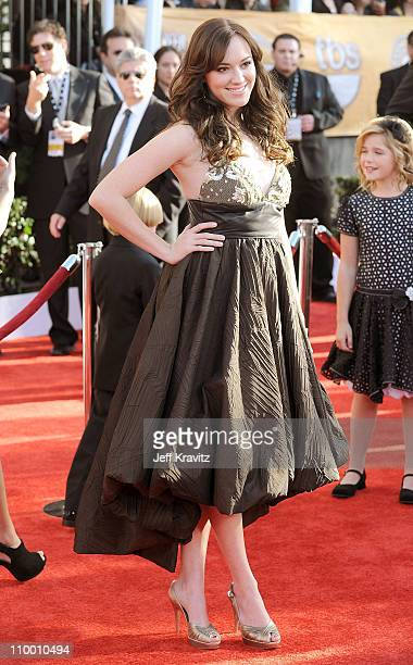 Actress Andrea Bowen arrives at the 15th Annual Screen Actors Guild Awards held at the Shrine Auditorium on January 25 2009 in Los Angeles California
