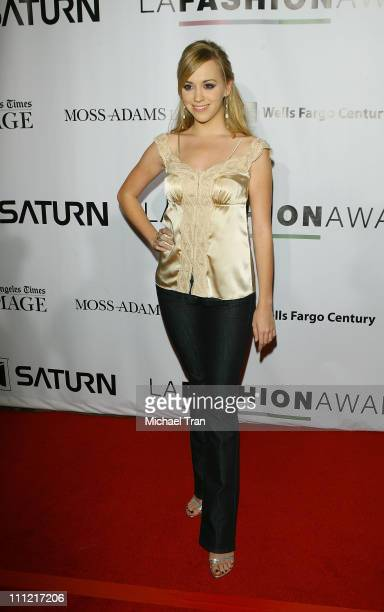 Actress Andrea Bowen arrives at the 2007 LA Fashion Awards held at The Orpheum Theatre on October 26 2007 in Downtown Los Angeles California