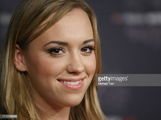 Actress Andrea Bowen arrives at the TMobile Sidekick LX Launch Party held at Griffith Park's Harding and Wilson Golf Course on October 16 2007 in Los...