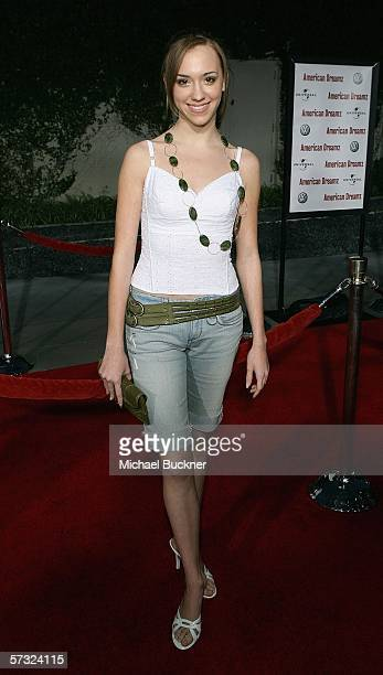 Actress Andrea Bowen arrives at the Universal Pictures Premiere of 'American Dreamz' at the ArcLight Theatre on April 11 2006 in Hollywood California