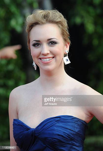 Actress Andrea Bowen arrives to the 14th Annual Screen Actors Guild Awards at the Shrine Auditorium on January 27 2008 in Los Angeles California