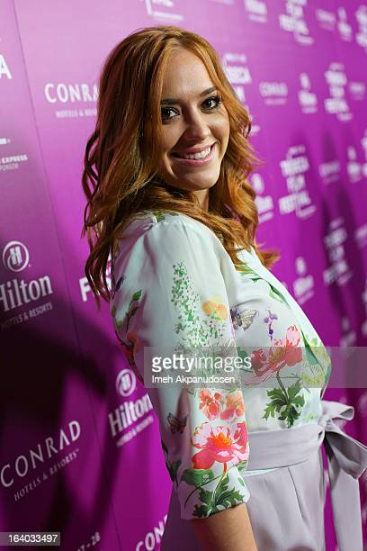 Actress Andrea Bowen attends the 2013 Tribeca Film Festival LA Reception at The Beverly Hilton Hotel on March 18 2013 in Beverly Hills California