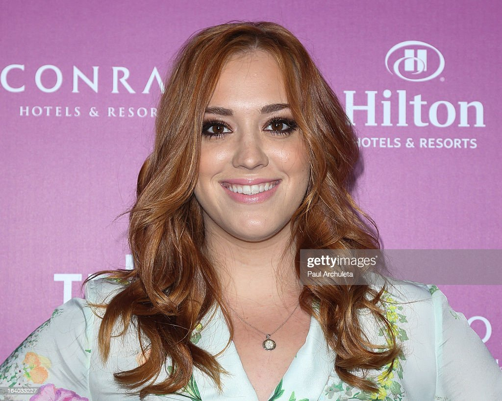 Actress Andrea Bowen attends the 5th annual Tribeca Film Festival 2013 LA reception at The Beverly Hilton Hotel on March 18, 2013 in Beverly Hills, California.