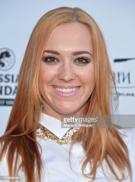 Actress Andrea Bowen attends The Creative Coalition's 2013 Summer Soiree at Mari Vanna Los Angeles on June 19 2013 in West Hollywood California