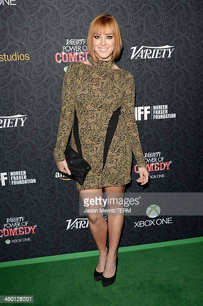 Actress Andrea Bowen attends Variety's 4th Annual Power of Comedy presented by Xbox One benefiting the Noreen Fraser Foundation at Avalon on November...