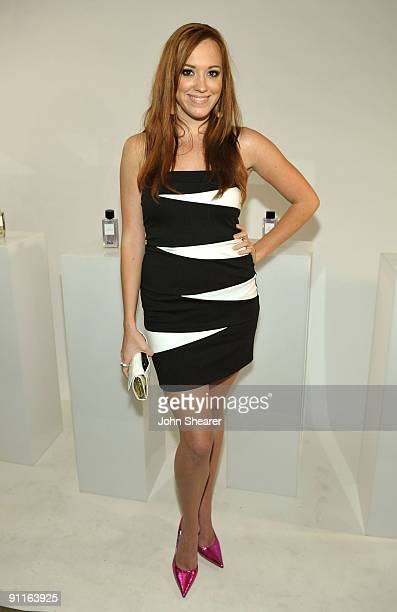 Actress Andrea Bowen poses with the DG fragrance bar during the 7th Annual Teen Vogue Young Hollywood Party held at Milk Studios on September 25 2009...