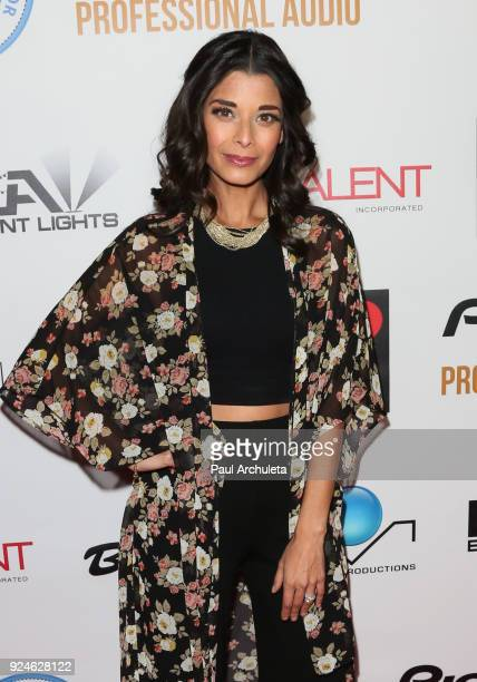 Actress Andrea Drepaul attends the 'Gifting Your Spectrum' gala benefiting Autism Speaks on February 24 2018 in Hollywood California