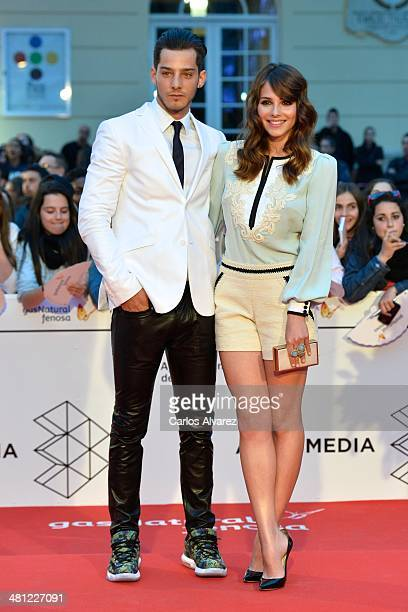 Actress Andrea Duro and Joel Bosqued attend the 'La Vida Inesperada' premiere during the 17th Malaga Film Festival 2014 Day 8 at the Cervantes...