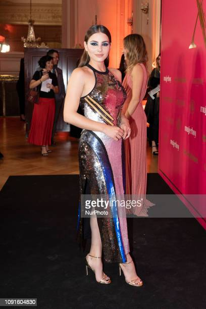 Actress Andrea Duro attends 'MujerHoy' awards 2019 at Casino de Madrid on January 30 2019 in Madrid Spain