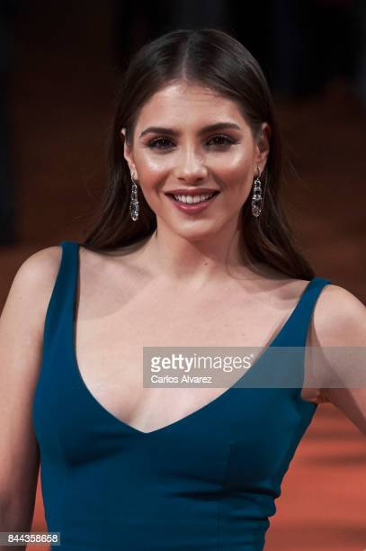 Actress Andrea Duro attends the 'La Catedral del Mar' premiere at the Principal Teather during the FesTVal 2017 on September 8 2017 in VitoriaGasteiz...