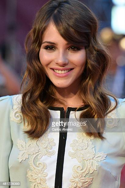 Actress Andrea Duro attends the 'La Vida Inesperada' premiere during the 17th Malaga Film Festival 2014 Day 8 at the Cervantes Theater on March 28...