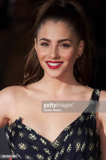 Actress Andrea Duro attends the 'Nieve Negra' premiere during the 20th Malaga Film Festival 2014 Day 2 at the Cervantes Theater on March 18 2017 in...