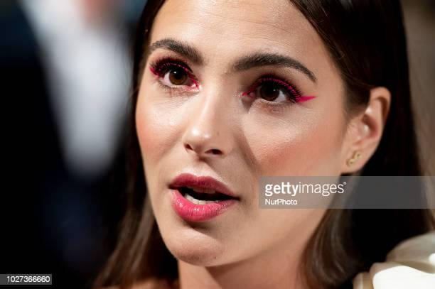 Actress Andrea Duro attends to orange carpet of 'Velvet' during FestVal in Vitoria Spain September 04 2018