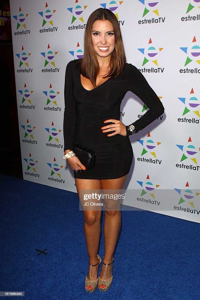Actress Andrea Escalona attends the launch party for Estrella TV news anchor: Myrka Dellanos at The Conga Room at L.A. Live on May 1, 2013 in Los Angeles, California.
