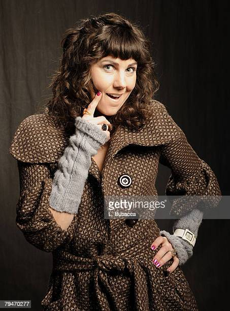 """Actress Andrea Fellers of """"Hell Ride"""" poses at the Hollywood Life House on January 22, 2008 in Park City, Utah."""
