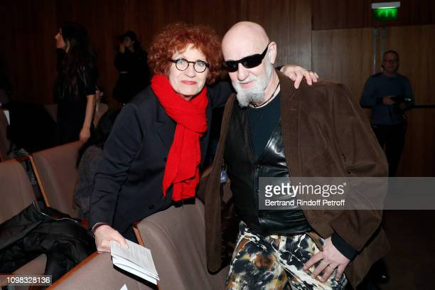 Actress Andrea Ferreol and singer Charlelie Couture attend the Franck Sorbier Haute Couture Spring Summer 2019 show as part of Paris Fashion Week on...