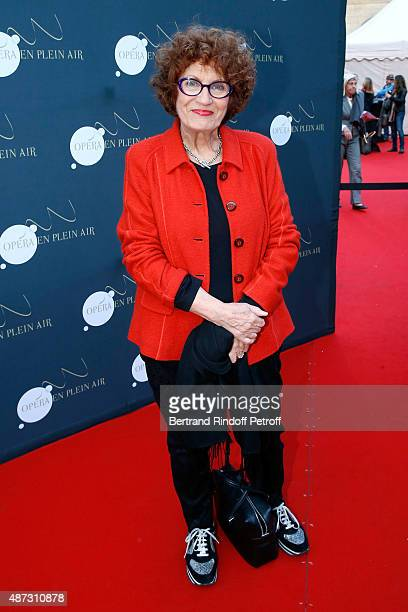 Actress Andrea Ferreol attends 'La Traviata' Opera en Plein Air produced by Benjamin Patou and 'Moma Event' Held at Hotel Des Invalides on September...