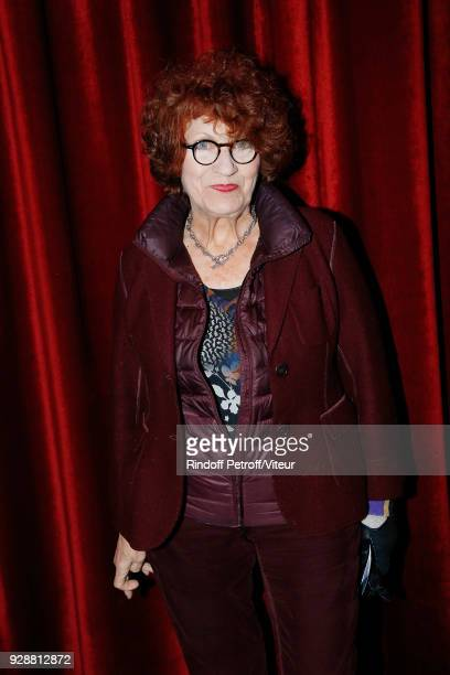 Actress Andrea Ferreol attends 'Les Monologues du Vagin' during 'Paroles Citoyennes 10 shows to wonder about the society' at Bobino on March 7 2018...