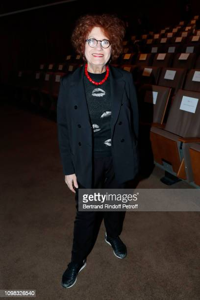 Actress Andrea Ferreol attends the Franck Sorbier Haute Couture Spring Summer 2019 show as part of Paris Fashion Week on January 23 2019 in Paris...