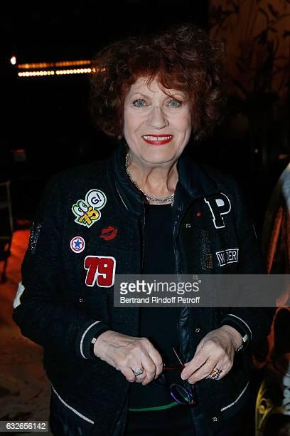 Actress Andrea Ferreol attends the Franck Sorbier Haute Couture Spring Summer 2017 show as part of Paris Fashion Week on January 25 2017 in Paris...