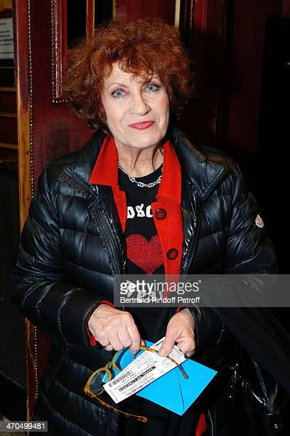Actress Andrea Ferreol attends the 'L'appel de Londres' theatrical premiere at Theatre Du Gymnase on February 19 2014 in Paris France