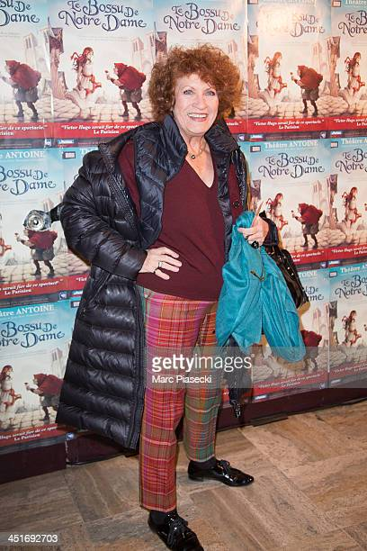 Actress Andrea Ferreol attends the 'Le Bossu de Notre Dame' performance at Theatre Antoine on November 24 2013 in Paris France