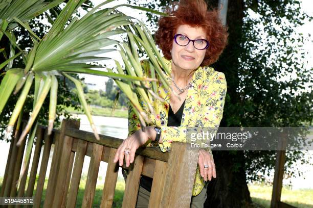 Actress Andrea Ferreol poses during a portrait session in Paris France on