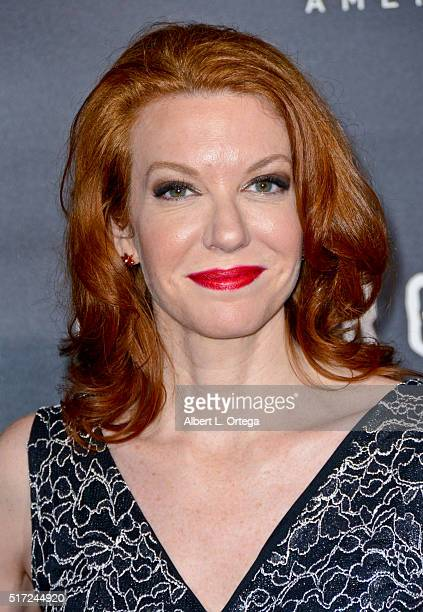 Actress Andrea Frankle arrives for the Premiere Of WGN America's 'Underground' at The Theatre At The Ace Hotel on March 2 2016 in Los Angeles...
