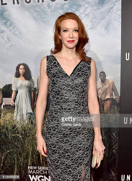 Actress Andrea Frankle attends WGN America's 'Underground' World Premiere on March 2 2016 in Los Angeles California