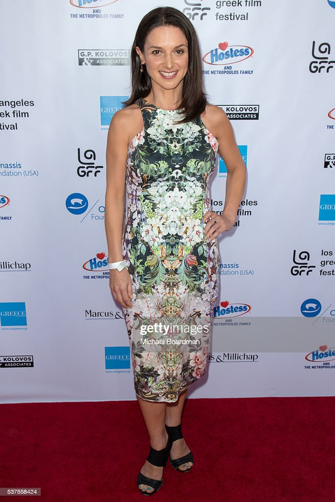 Actress Andrea Gabriel attends the 10th Annual Los Angeles Greek Film Festival opening night gala at the Egyptian Theatre on June 01, 2016 in Hollywood, California.