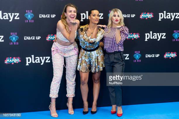 Actress Andrea Gasch, Chanel Terrero and Lucia Gil attends presentation of new schedule of 'Playz' during FestVal in Vitoria, Spain. September 05,...