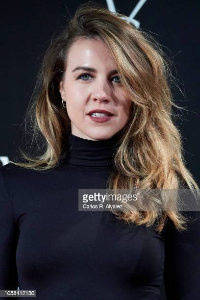 Actress Andrea Guasch attends 'YSL Beaute THE SLIM Rouge PurCouture' party at the Santona Palace on November 6 2018 in Madrid Spain