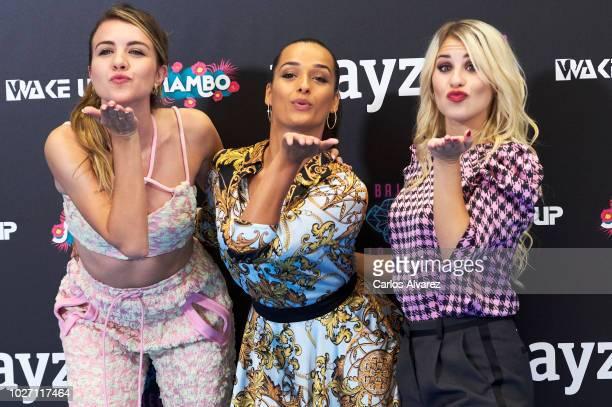 Actress Andrea Guasch, singer Lucia Gil and actress Chanel Terrero attend 'Playz' photocall at Palacio de Congresos Europa during the FesTVal 2018 on...