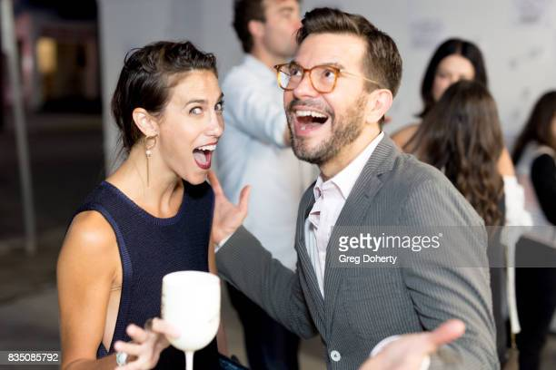 Actress Andrea Guttag and Writer Pete Huyck attend the Art Of Elysium 20th Anniversary Celebration at therethere on August 17 2017 in Los Angeles...