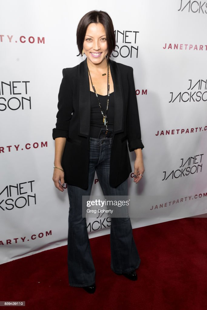 Actress Andrea Kelly Konno arrives for the Janet Jackson's State Of The World Tour After Party at Lure on October 8, 2017 in Los Angeles, California.