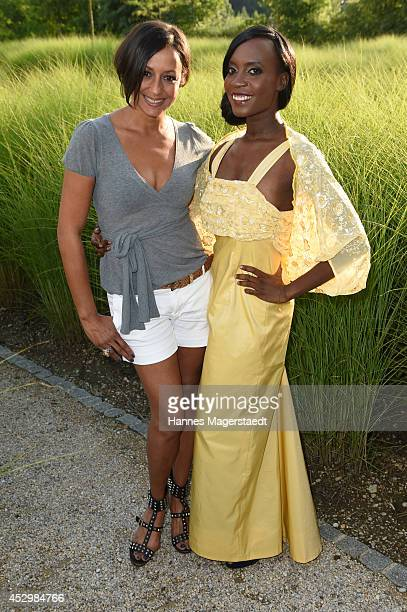 Actress Andrea Kempter and model Sadia de Kiden attend the 'Citroen C4 Cactus' Munich Preview at Leonardo Royal Hotel on July 31 2014 in Munich...
