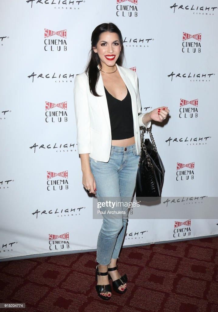Actress Andrea Lareo attends the Slamdance Cinema Club screening of 'Bernard And Huey' at ArcLight Hollywood on February 6, 2018 in Hollywood, California.