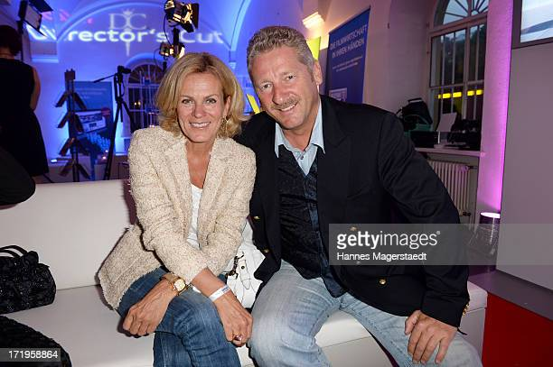 Actress Andrea L'Arronge and her husband Charly Reichenwallner attend the Audi Director's Cut during the Munich Film Festival 2013 on June 29 2013 in...