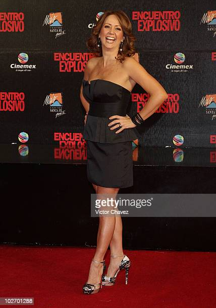 Actress Andrea Legarreta attends the premiere of Knight Day at Cinemex Santa Fe on July 7 2010 in Mexico City Mexico