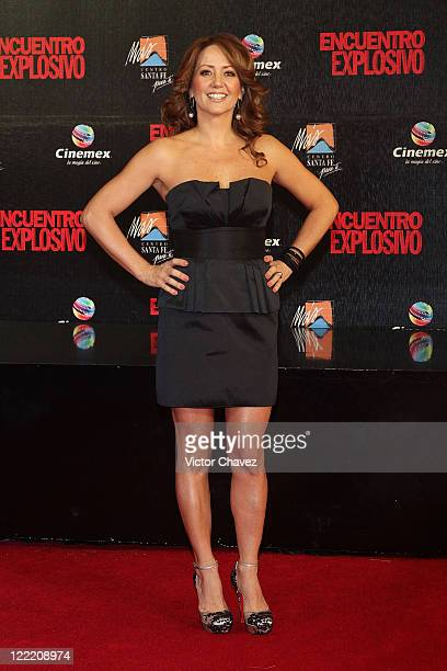 Actress Andrea Legarreta attends the premiere of 'Knight Day' at Cinemex Santa Fe on July 7 2010 in Mexico City Mexico