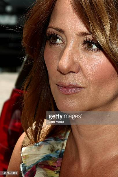 Actress Andrea Legarreta poses for a photo during the recording of the video Mexico In Our Hands at Estudio 5 de Mayo on April 28 2010 in Mexico City...