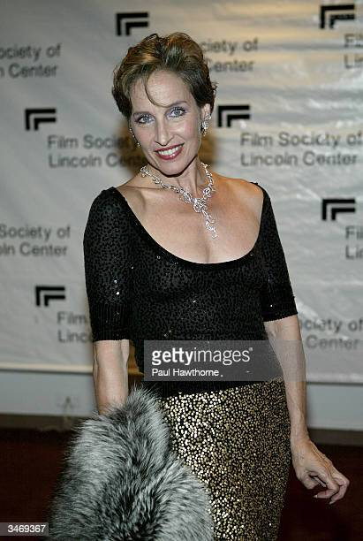 Actress Andrea Marcovicci attends the Film Society Of Lincoln Centers 2004 Gala Tribute to Sir Michael Caine on April 26 2004 at the Avery Fisher...