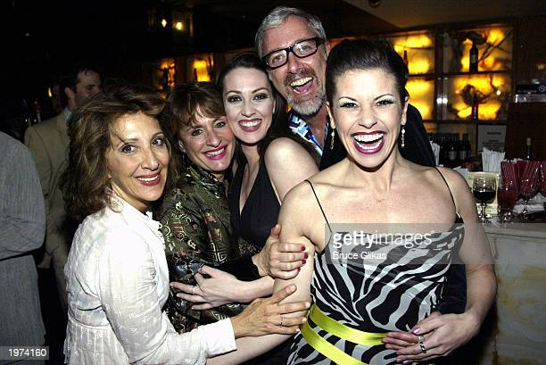 Actress Andrea Martin actress Patti LuPone actress Shannon Lewis actor Scott Wittman and actress Rachelle Rak attend the Opening Night Party for 'The...
