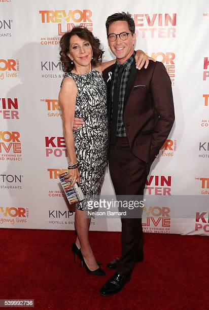 Actress Andrea Martin and actor Dan Bucatinsky attends The Trevor Project's TrevorLIVE New York on June 13 2016 in New York City