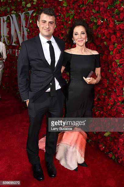 Actress Andrea Martin and son Joe Dolman attend the 70th Annual Tony Awards at The Beacon Theatre on June 12 2016 in New York City