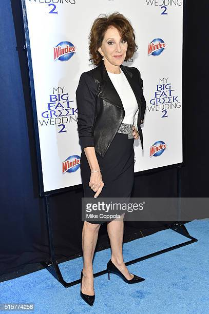 Actress Andrea Martin arrives at the premiere of My Big Fat Greek Wedding 2 and walks the Windex blue carpet in New York City on March 15 2016