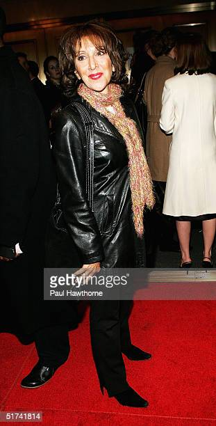 Actress Andrea Martin attends opening night of 'Night Mother' at the Royale Theatre November 14 2004 in New York City