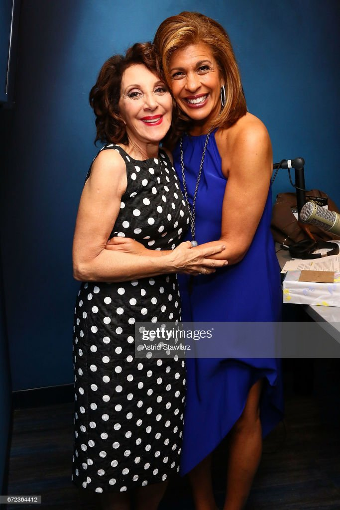 Actress Andrea Martin poses with SiriusXM host/TV personality Hoda Kotb during 'The Hoda Show' live on SiriusXM's TODAY Show Radio at the SiriusXM Studios on April 24, 2017 in New York City.