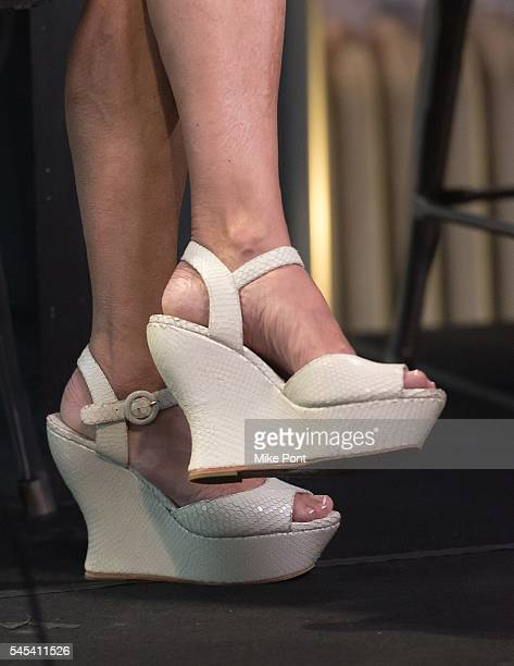 Actress Andrea Martin shoe detail attends the AOL Build Speaker Series to discuss the recording of 'What the World Needs Now' at AOL Studios In New...